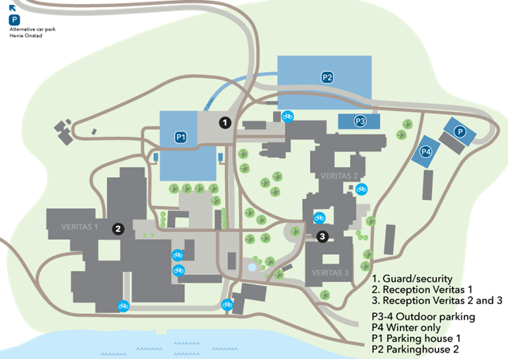 Area map of DNV GL headquarters - the Veritas Centre at Høvik