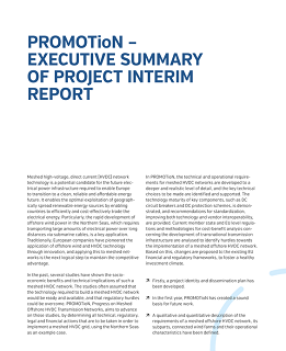 PROMOTioN executive summary of the interim report