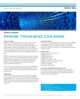 Training course PRIME